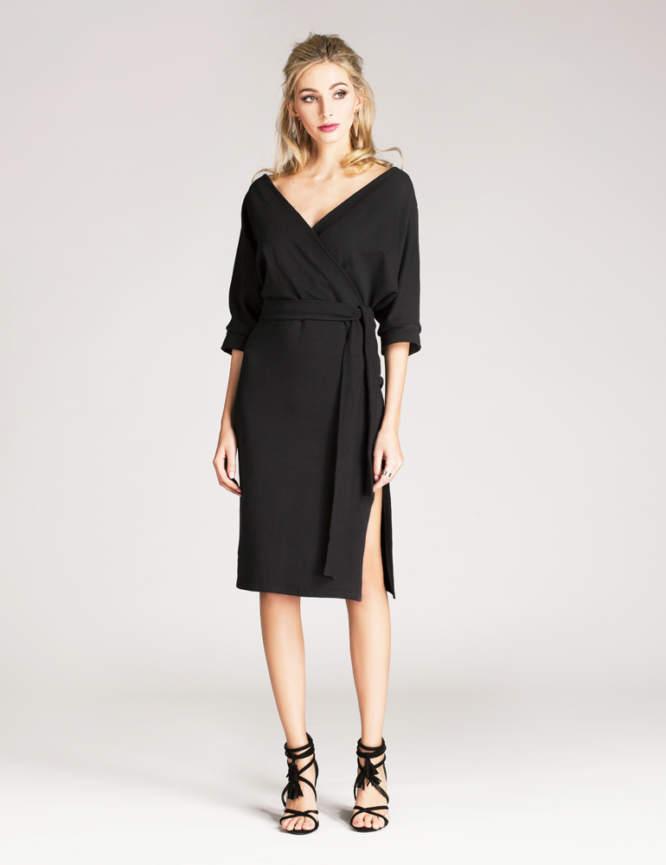 Sukienka kopertowa czarna