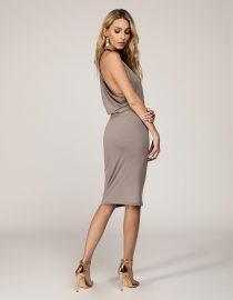 sukienka midi bez pleców