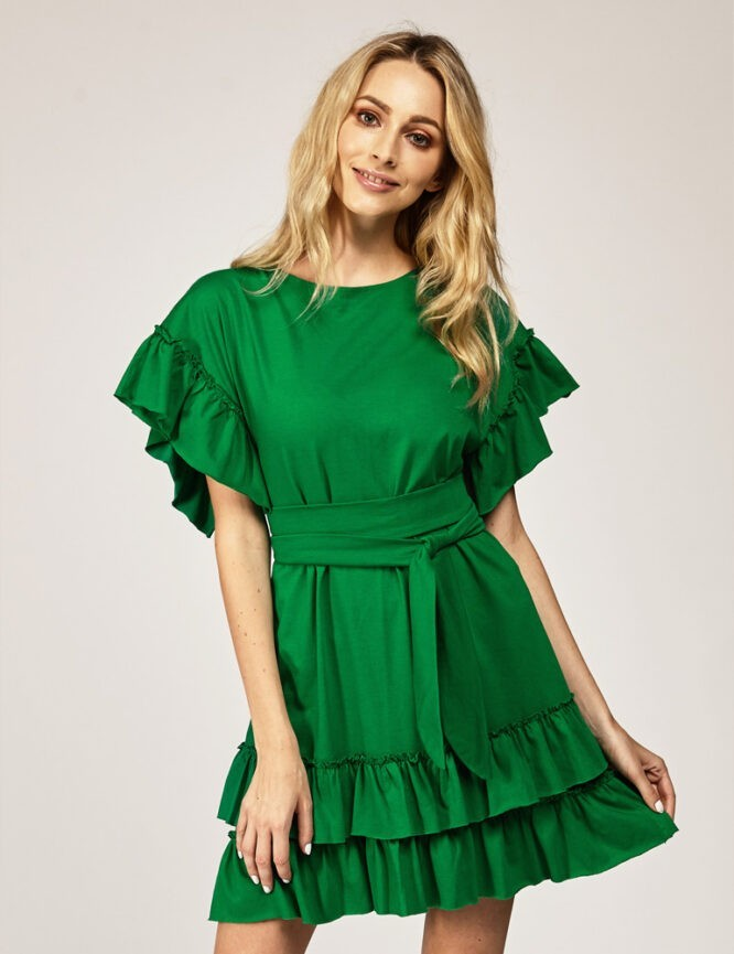 sukienka z falbanami bawełniana