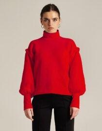 bluza dresowa z marszczonymi rękawami