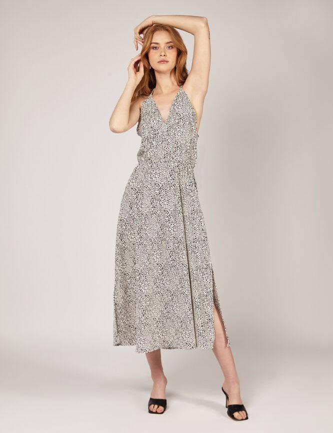sukienka w kropki na ramiączkach